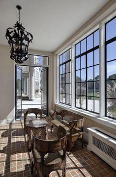 Custom Steel Windows & Doors by Optimum WIndow Mfg Steel Windows, Casement Windows, Steel Doors, Windows And Doors, Home Interior Design, Interior And Exterior, Exterior Design, Indoor Outdoor, Outdoor Living