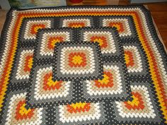 Harvest Afghan pattern by Carolyn Bridges This is a challenging and rewarding pattern. The Effective Pictures We Offer You About Crochet hairstyles A quality picture. Crochet Afghans, Crochet Quilt Pattern, Crochet Square Blanket, Granny Square Crochet Pattern, Crochet Blanket Patterns, Crochet Doilies, Crochet Stitches, Granny Square Tutorial, Crochet Crafts
