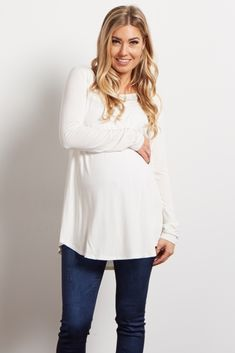 54a96a126 Once you put on this ultra soft basic maternity top you won t want to