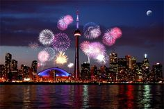 This is an example of the fireworks at Victoria Day!