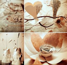 Eco wedding decor made from reused paper