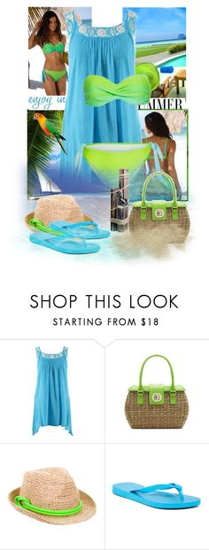 """""""Swim Time!"""" by sophia561 ❤ liked on Polyvore featuring Life's a Beach, Kate Spade, Tracy Watts and Havaianas"""