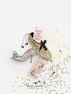 best-selling holiday gifts. because she's always changing her tune. featuring glitter keds, charm heels, disco ball keychain, glitter is my favorite color resin iphone 6 case, the long list large notepad. #getgifted