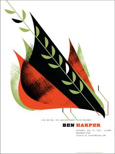 Ben Harper concert poster by Invisible Creature