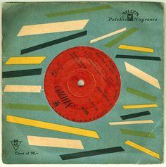 vintage Polish record cover design