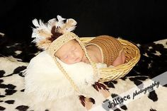 Newborn Indian Diaper Cover and Headdress, Indian, Newborn, Baby, Crochet, Feather Headdress, Diaper Cover, Photo Prop, Photography Prop