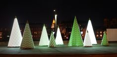 SashaDasha Design Firefly Trees Light installation at Park Museon