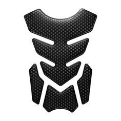 Protection de r/éservoir de moto aspect carbone noir universel