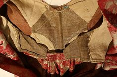 Dress. French, 1790's. Silk. Interior construction view. From the Met: C.I.64.32.2