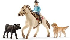 Riding Cowgirl, Western Riding, Western Horse Tack, Cowgirl And Horse, Western Saddles, Quarter Horses, Schleich Horses Stable, Breeds Of Cows, Toy Story Figures