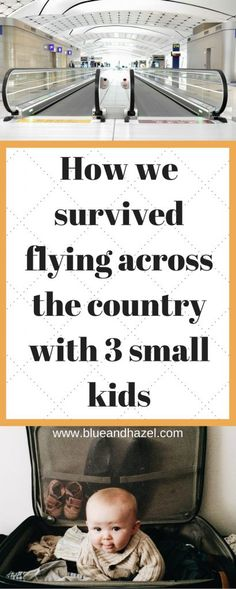 Flying soon with kids? Here is how we flew across the United States multiple times now with 3 kids under 5. Get tips on flying with babies and toddlers, how to transport car seats, and what to expect at security and when picking up your car. Reality is flying is hard, so learn from our mistakes and experiences! #flyingwithkids #babies #travelingwithkids #baby #toddler