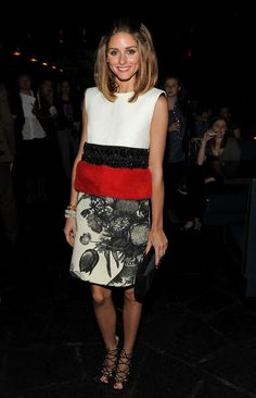 She can really work cool new designer duds like this Giambattista Valli shift dress.