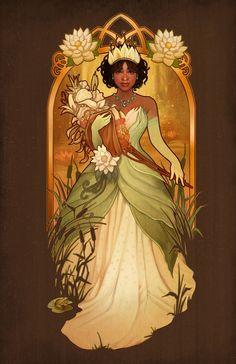 Almost There - Tiana - signed art prints Art Nouveau Disney, Disney Fan Art, Disney Princess Art, Princess Tiana, Disney E Dreamworks, Disney Films, Disney Pixar, Betty Boop, Disney Princesa Tiana