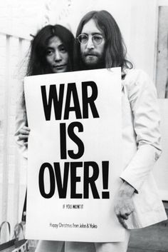 John Lennon - War is Over - Official Poster. Official Merchandise. Size: 61cm x 91.5cm. FREE SHIPPING