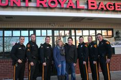 Mt. Royal Bagel owners and Evesham Police Officers