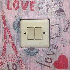 Lovely paris for your light switch