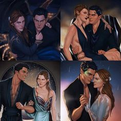 Feyre and Rhysand from a Court of Mist and Fury. There are two types of people in this world. Those who ship Feysand, and those who haven't read ACOMAF A Court Of Wings And Ruin, A Court Of Mist And Fury, Fan Art, Feyre And Rhysand, Roses Book, Sarah J Maas Books, Lore Olympus, Crescent City, Look At The Stars