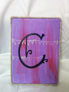 Initialed Canvas: Customizable Canvas by SplatteredDaisies on Etsy