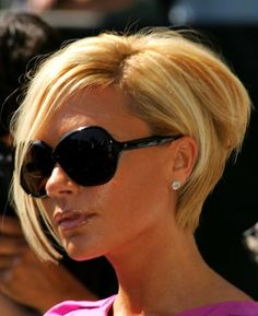 haircuts on pinterest that are longer in the front | Victoria Beckham's Posh Asymmetrical Bob