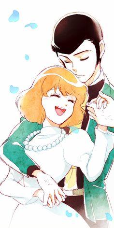 Lupin III and Clarisse - Castle of Cagliostro Japanese Animated Movies, Japanese Cartoon, Hayao Miyazaki, Vocaloid, Lupin The Third, Anime Art, Manga Anime, Anime Girl Hot, Ghibli Movies