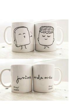 Tazas para enamorados.