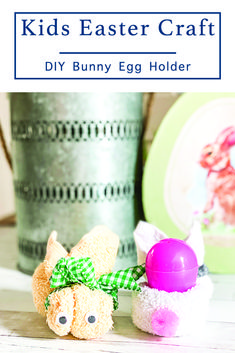 Make this adorable Easter Craft for kids with a few craft supplies and the step by step instructions from Everyday Party Magazine #Ad #OTCHipHopSquad #OrientalTrading #EasterCraftsForKids