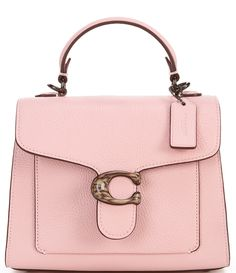 Coach Leather Bag, Small Leather Bag, Pebbled Leather, Coach Handbags, Coach Purses, Pink Pewter, Leather Handbags, Leather Bags, Polished Pebble