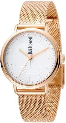 10dd511440 Just Cavalli Women s Watches Women s Ionic-Plated Rose Gold Watch with  Silver Dial