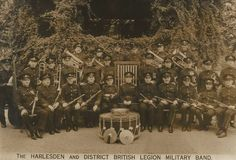 Old Postcard - Harlesden and District British Legion Military Band