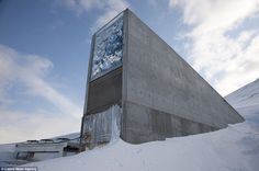 Food ark: Entrance to the Global Seed Vault in Norway which is home to more than two billion of the world's seeds10/29 Oslo, Types Of Agriculture, Expo Milano 2015, Home Structure, Seed Bank, Arctic Circle, Vaulting, Bunker, National Geographic