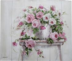 Roses in an Old Tin Pail