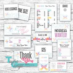 Tribal Butterfly Marketing Bundle Over 25 Items  Butterfly - Small business marketing Kit - Punch card - custom business card - live sale tags - thank you card card - Lula cash - Perfectly customizable for Lularoe Marketing Kits