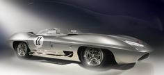 1959 Corvette XP-87 Stingray Racer. Digital Painting.