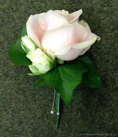 Simple Blush pink and Ivory Rose Grooms buttonhole | Wedding Flowers Liverpool, Merseyside, Specialist Bridal Florist, Booker Flowers and Gifts, Booker Weddings