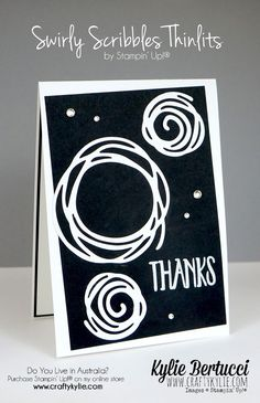 SU! Swirly Scribble Thinlits; the sentiment is from the Perfectly Wrapped stamp set - Kylie Bertucci