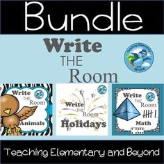 Write the Room {Bundle Set} Great for primary students and play based learning!