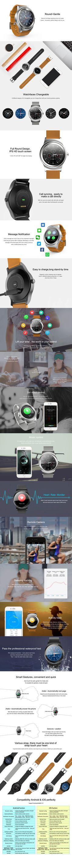 SMA-R Heart Rate Monitor Bluetooth Call Anti-lost Reminder Smart Watch at Banggood