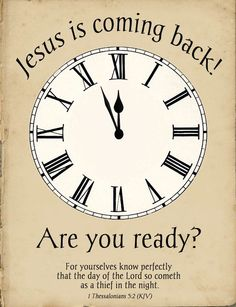 Jesus is coming back! and it's very soon.