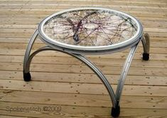 diy furniture upcycle 17 Ways to Upcycling A Bicycle - Giddy Upcycled, Bicycle Rims, Bicycle Wheel, Bicycle Art, Bike Wheels, Bicycle Crafts, Repurposed Furniture, Diy Furniture, Farmhouse Furniture, Furniture Plans