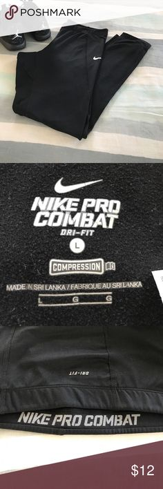 Nike pro combat, dry fit, compression leggings. Only worn a few times! Nike Pants Leggings