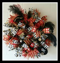 Gaspirilla pirate Deco wreath.  DDL DESIGNS  http://www.facebook.com/ddldesigns