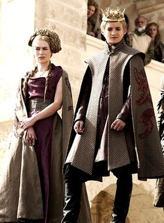 Lena Headey as Cersei Lannister and Jack Gleeson as Joffrey Baratheon in Game of Thrones.