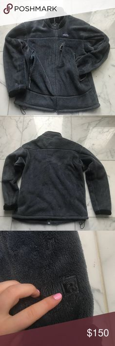 Vintage Patagonia Fall 'O5 R4' Fleece Jacket This vintage Patagonia jacket is no longer in production. It has a grey/blue outside with a black inside. Very heavy and warm Patagonia Jackets & Coats