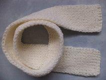 SCHAL Merinowolle gestrickt 100cm Kinder Wolle