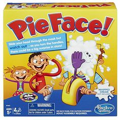 """The exciting Pie Face game is filled with fun and suspense, and somebody's bound to get splatted! Just put some delicious whipped cream from home or the wet sponge on the """"hand"""" of this hilarious game unit and start turning the handles."""