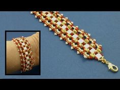 "#Beading4perfectionists : Tila ""Lace-Brace"" Bracelet advanced beading tutorial - YouTube"
