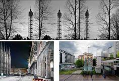 milano, italy  i fotografi e milano, galleria belvedere  from top clockwise: ph cirenei, comunale, campigotto  carnet de notes 177