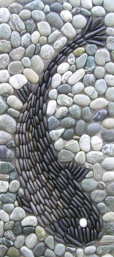 Mosaic Walkway, Pebble Mosaic, Stone Mosaic, Pebble Art, Mosaic Art, Easy Mosaic, Mosaic Tiles, Rock Mosaic, Pebble Stone