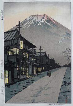 Fuji from Yoshida, Yamanashi, by Kasamatsu, Shiro, 1958