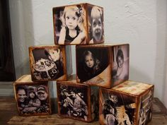 Blocks of my sweet family.  My daughter made them.